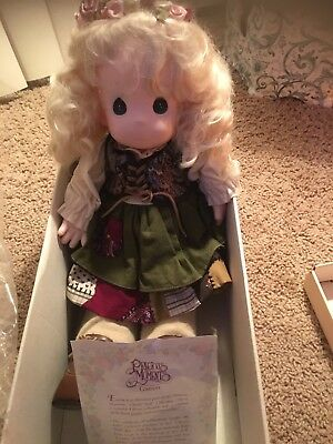 "Precious Moments Classic Doll EMMA #1064 16"" Vinyl LTD 1994 cloth body"