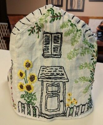 Unique Vintage Lovely Colorful Hand Embroidered 1940's Toaster Cover