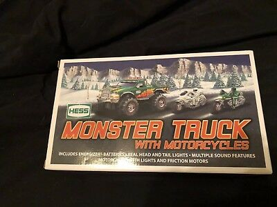 Hess 2007 Monster Truck with 2 Motorcycles(brand new in box)729071020075