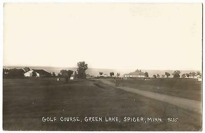 Spicer Minnesota MN ~ Green Lake Country Club Golf Course RPPC 1930