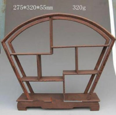 Chinese Pretty Wood Stand SHELF For Netsuke Snuff Bottles Or Curios