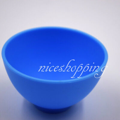 5 PC Dental Mixing Bowl Blue Nonstick Flexible Dental Lab Silicone Rubber S Size