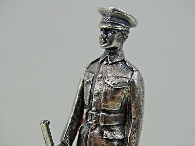 ENGLISH STERLING SILVER PLACE CARD / MENU HOLDER LONDON 1931 Military Rifle Army
