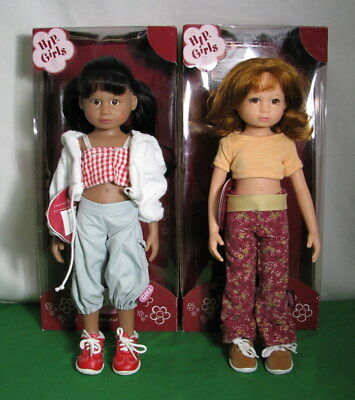 """LOT OF 2 GOTZ HIP GIRLS """"BIANCA"""" & """"BAILEY"""" DOLLS 14"""" TALL w BOX AND TAGS GC"""