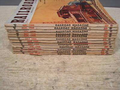Full year, 12 issues 1950 of Railroad Magazine