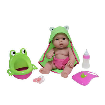 Berenguer Lots To Love Frog Potty Baby Drink And Wet 💚💗💙 Pacifier Included