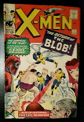 * Marvel Comics X-Men Issue 7 The Return of The Blob 1964