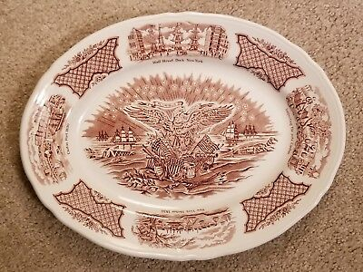 "E Pluribus Unum New York 14""x12"" Collectable Plate, Alfred Meakin/Fair Winds"