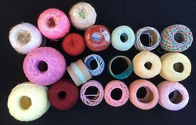 20x Bulk Lot Knitting Crochet Cotton Various Brands And Ply New & Used