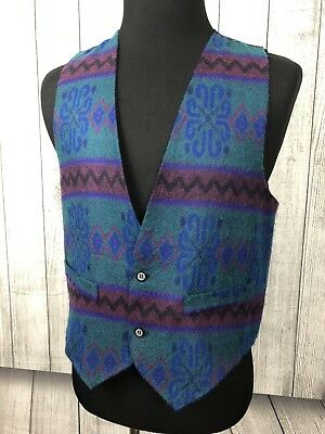 Vintage 70's / 80's Hutspah Vibrant Colored Medium Vest Made in USA!
