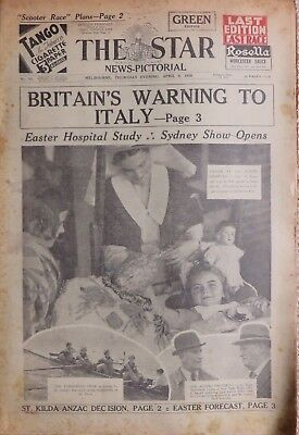 MELBOURNE STAR: 9th April 1936: FINAL ISSUE