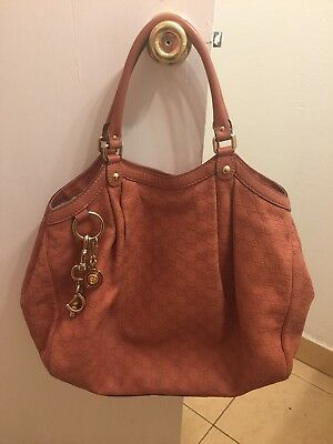 4354ac448f4f Authentic Gucci Large Sukey Coral Guccissima Leather Bag-Beautiful Condition