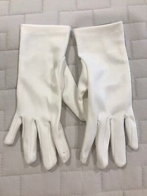 LITTLE GIRLS White Dress Up Gloves