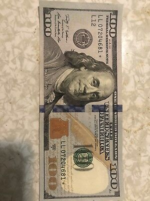 100 dollar bill Star Note LL07204681 VERY GOOD CONDITION