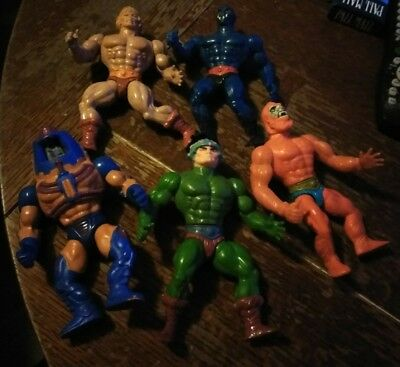 He-man Action Figures Lot of 5!!! Vintage early 80's Mattel!!