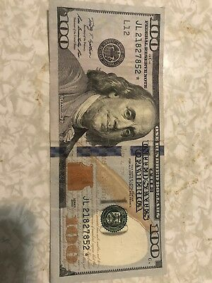 100 Doller Bill *STAR EDITION* FEDERAL RESERVE NOTE   JL21827852