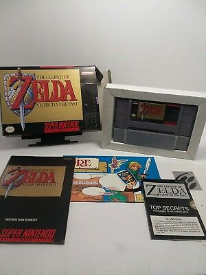 The Legend Of Zelda A Link To The Past Complete Cib Map Secrets Snes