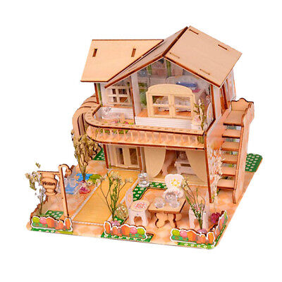 My Wooden Little House DIY Handcraft Miniature Project Kit Wood Dolls House