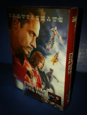 Captain America Civil War Blufans Exclusive Double Lenticular Blu Ray Steelbook