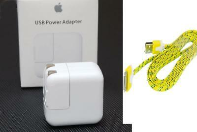 Original 12W USB Wall Charger Power Adapter for iPad 2 3 iPod touch 30 pin cable