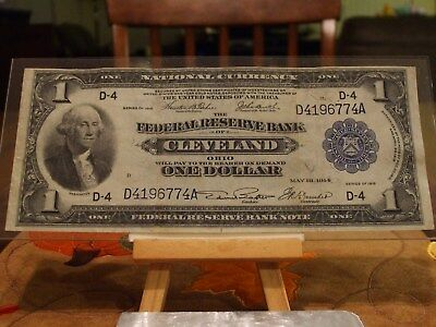1918 $1,federal Reserve Bank Note,national Currency, Vf/xf Condition,fr#718