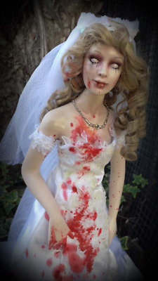 OOAK Porcelain Zombie Bride Horror Haunted Gothic