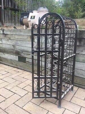 rort iron wine rack for 22 bottles