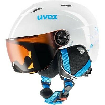 uvex Skihelm junior Visor white Gr. 54-56