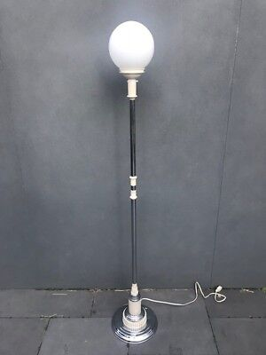 Art Deco Floor Lamp - Chrome & Bakelite (1930s Original)