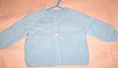 Handmade Knitted Baby Jacket in 4ply baby yarn J402