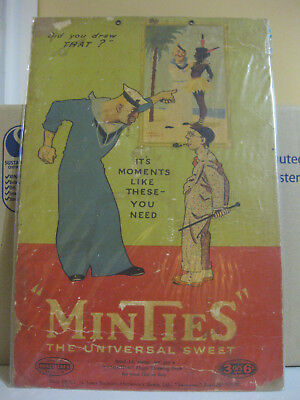 Early Sweet Acres Cardboard Minties Point of Sale Card