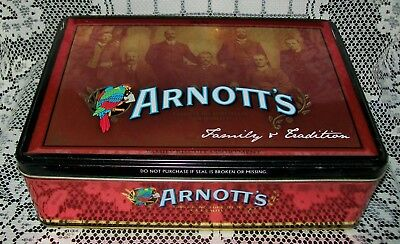 ARNOTT'S BISCUITS 'FAMILY & TRADITION' COLLECTOR TIN *empty* 2007