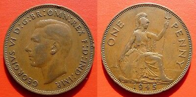 England - 1 (one) Penny - 1945 - Georg VI