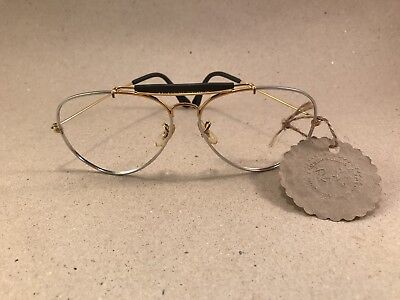 Vintage Ray Ban Outdoorsman Precious Metals Gold Arista White 62 [] 14 B&L Lomb