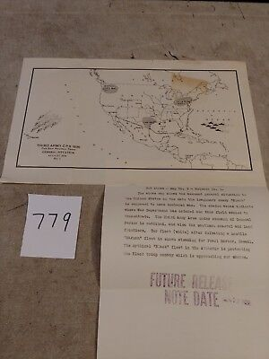 Us Army Maneuvers Map Third Army 1936 Texas