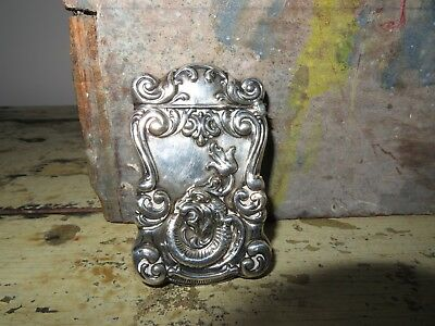 victorian Match Safe Antique Exotic Japanese chinese dragon  Sterling Silver