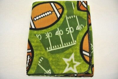 Footballs Stars Baby Blanket Toddler Blanket Can Be Personalized 28x45