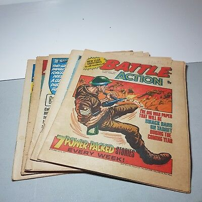 Battle Action Joblot - 5 Issues from 1977 - UK Paper Comic - Vintage Collection