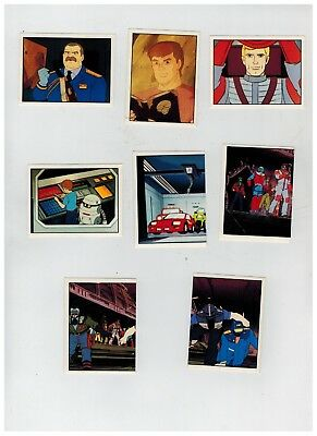 Panini Stickers 1986, 8 Mask,#7,10,16,18,17,24,26,27