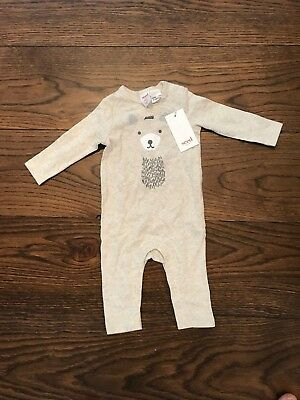 SEED HERITAGE BABY ONE PIECE ROMPER 00 or 3 to 6 MONTHS NEW WITH TAGS RRP $35
