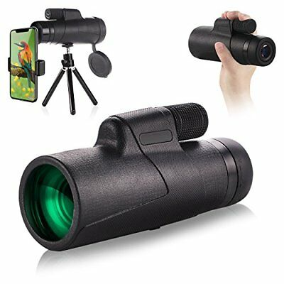 Waterproof Monocular Telescope - EAGWELL 10x42 High Power Prism (Black)