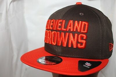 CLEVELAND BROWNS NEW Era NFL Blurred Trick 9Fifty Snapback Hat Cap ... 85055c5ec90d