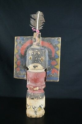 12#  Antique Hopi Kachina DOLL - Native American, Early 20th Century Puppet 11''