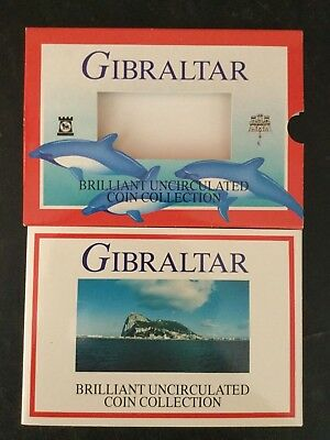 2001 Gibralter Brilliant Uncirculated Official Mint Set (9) Coins RARE