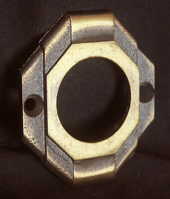 "2""x2.5 Vintage Deco NOS Antique SOLID Brass Door Cylinder Mortise Key Hole Plate"
