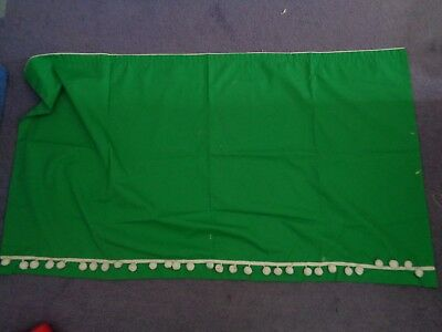Shed curtains - 1x green with bobbles - 5x chequered