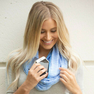 Women s Convertible Infinity Scarf With Pocket Loop Scarf Fashion Zipper  Pocket ddc621c8df34