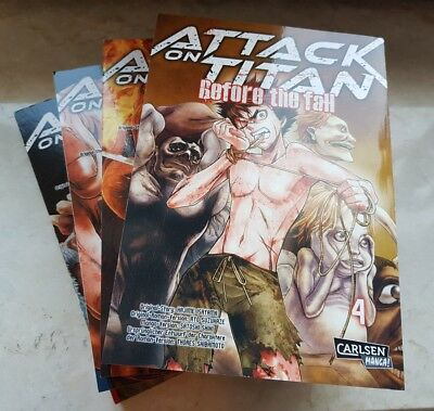Attack on Titan Before the Fall Manga 1-4