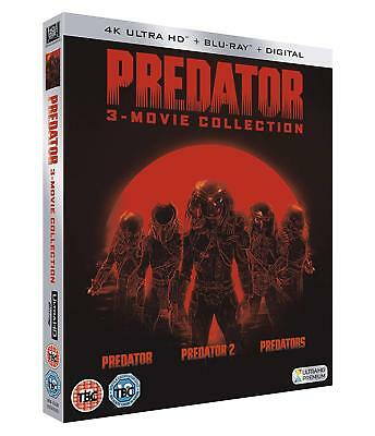 PREDATOR TRILOGY 3 Movie Collection 4K Ultra HD UHD + Blu-Ray BRAND NEW
