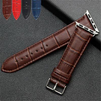 40/44mm iWatch Leather Band Crocodile Pattern Casual Strap for Apple Watch 38/42